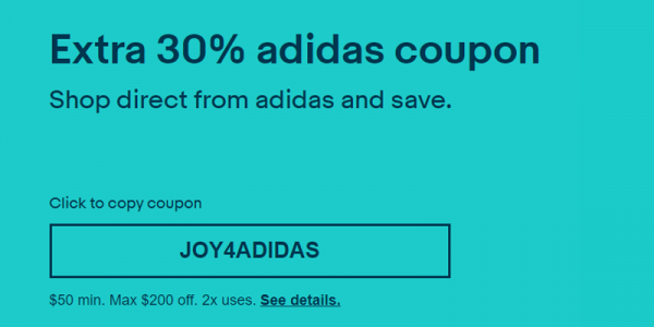 <b>eBay:</b> Adidas tặng code giảm 30% trên Ebay, siêu rẻ