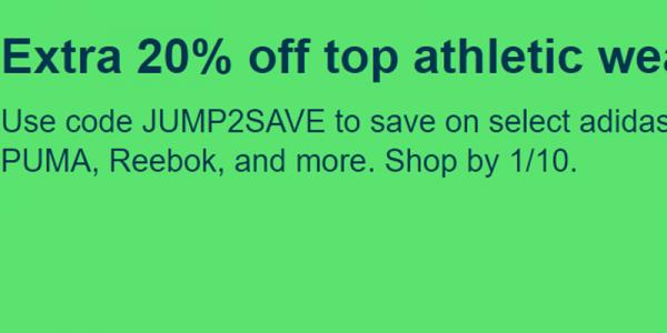 <b>eBay:</b> Tặng code giảm 20% cho các sản phẩm adidas, PUMA, Reebok và rất nhiều mặt hàng khác