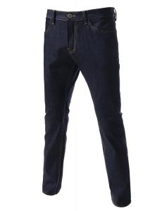 TheLees Slim Fit Straight Low Rise Stretchy Washing Jeans