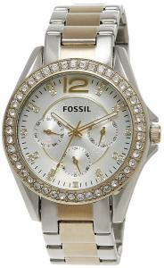 Đồng hồ Fossil Women's ES3204 Riley Silver and Gold Tone Watch