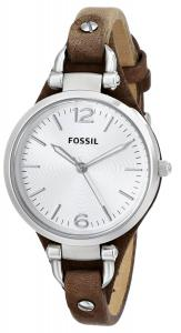 Đồng hồ Fossil Women's ES3060 Georgia Three Hand Tan Leather Strap Watch