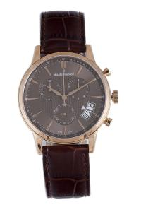 Đồng hồ Claude Bernard Men's 01002 37R BRIR Classic Rose Gold PVD Brown Dial Chrono Tachymeter Watch