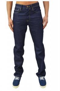 Voi Designer Men's Jeans Regular Fit Straight Leg Raw Wash Dark Blue Denim