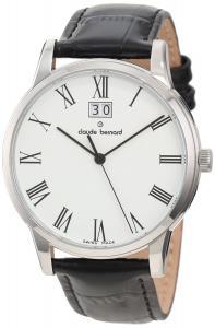 Đồng hồ Claude Bernard Men's 63003 3 BR Classic Gents White Dial Black Leather Date Watch