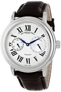 "Raymond Weil Men's 2846-STC-00659 ""Maestro"" Stainless Steel Watch with Leather Band"