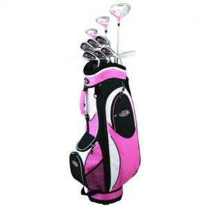 Golf Girl FWS2 PETITE Lady Pink Hybrid Club Set & Cart Bag