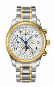 Longines Master Collection Chronograph White Dial Steel and 18kt Yellow Gold Mens Watch L26735787