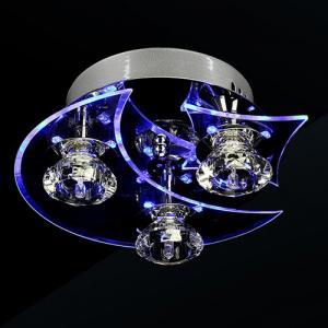 Lightinthebox Ceiling Light Fixture Chandeliers, led crystal flush mount, 3 lights, modern minimalist metal electroplated, Bulb Included