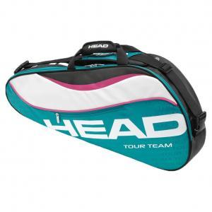 Tour Team Pro Tennis Bag Teal and White