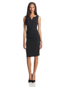 Kasper Women's Sleeveless Button-Detail Sheath Dress