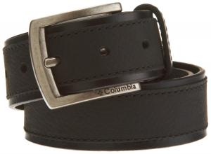 Columbia Mens 38mm Leather Belt With Overlay