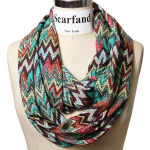 Scarfand's Multi-color Chevron Print Infinity Scarf