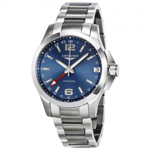Longines Conquest GMT Automatic Blue Dial Mens Watch L3.687.4.99.6