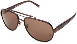 MontBlanc Men's MB367S Aviator Metal Sunglasses