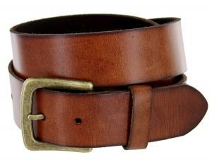 Men's Casual Full Grain Leather Belt 1-1/2