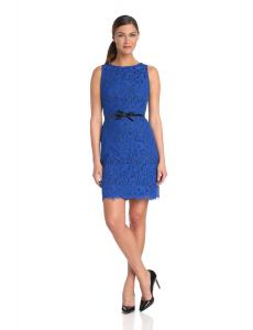 Donna Morgan Women's Sleeveless Fitted Lace Sheath Dress