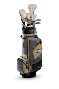 Callaway Strata Plus Women's Complete Golf Set with Bag, 16-Piece (Right Hand, Gold, Driver, Fairway, Hybrids, Irons, Putter)