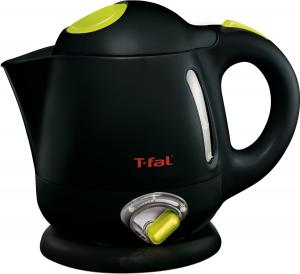 T-fal BF6138US Balanced Living 1-Liter 1750-Watt Electric Mini Kettle with Variable Temperature, Black