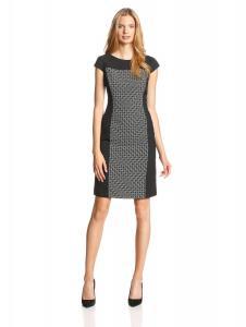 Kasper Women's Sleeveless Contrast-Panel Sheath Dress