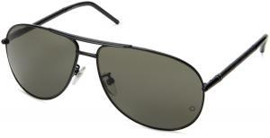 MontBlanc Men's MB361S Aviator Metal Sunglasses