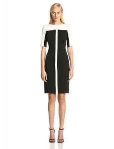 Julian Taylor Women's Short Sleeve Colorblock Sheath Dress