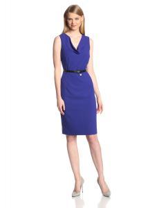 Calvin Klein Women's Belted Sheath Suit Dress