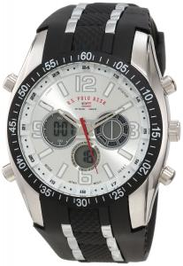 Đồng hồ U.S. Polo Assn. Sport Men's US9061 Watch with Black Rubber Strap Watch
