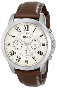 Đồng hồ Fossil FS4735 Grant Brown Leather Watch
