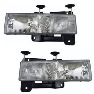 Chevrolet GMC C K Series Pickup Trucks C1500 C2500 C3500 K1500 K2500 K3500, 1992-1994 Chevy/GMC Blazer Jimmy, 1992-1999 Chevy/GMC Suburban C1500 C2500 K1500 K2500, Tahoe, Yukon Headlights Headlamps Head Lights Lamps Pair Set Left Driver AND Righ