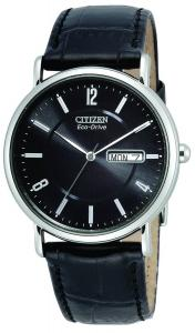 Đồng hồ Citizen Men's BM8240-03E Eco-Drive Stainless Steel, Black Leather Strap Watch