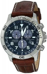 Đồng hồ Citizen Men's BL5250-02L Titanium Eco-Drive Watch with Leather Band
