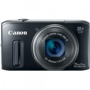 Canon PowerShot SX260 HS 12.1 MP CMOS Digital Camera with 20x Image Stabilized Zoom 25mm Wide-Angle Lens and 1080p Full-HD Video (Black)