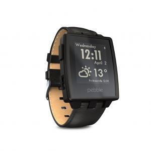Đồng hồ Pebble Steel Smart Watch for iPhone and Android Devices (Black Matte)