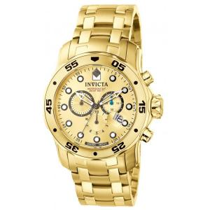 Đồng hồ Invicta Men's 0074 Pro Diver Chronograph 18k Gold Plated Stainless Steel Watch