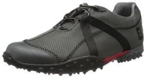Men's Footjoy M Project Spikeless Golf Shoes Charcoal/ Black Mesh