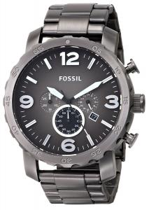 Đồng hồ Fossil Men's JR1437 Nate Chronograph Smoke Stainless Steel Watch