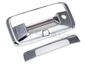 14-15 Chevy Silverado 1500 / 14-15 GMC Sierra Chrome Tailgate Handle Cover with Keyhole and Camera Hole
