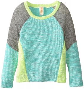 Áo Truluv Big Girls' Cropped Color Block Sweater