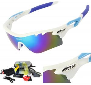 Kính mắt RIVBOS 801 POLARIZED Sports Sunglasses with 5 Interchangeable Lenses Fluorescent Color