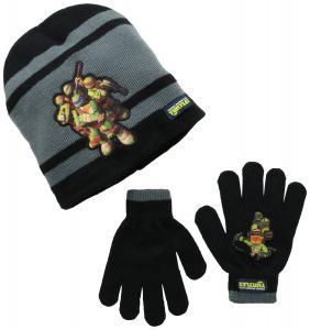 Mũ + găng tay Berkshire Big Boys' Tennage Mutant Ninja Turtles Knit Hat and Glove Set