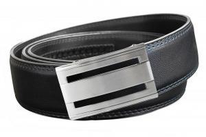 Dây lưng EazyBelt Men's Freedoms Leather Double Stitch Belt with Automatic Ratchet Belt