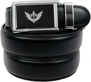 Dây lưng SlideBelts Men's Big Logo Winged Black Leather Ratchet Belt - Custom Fit