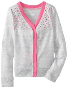 Áo One Step Up Big Girls' Cardigan Sweater with Elbow Patches