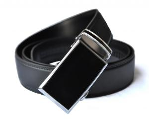 Dây lưng EazyBelt Men's Venture Leather Double Stitch Belt with Automatic Ratchet Buckle