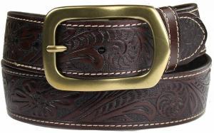 Dây lưng Jefferson Western Embossed Genuine Leather Casual Jean Belt 1 1/2