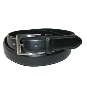 Dây lưng CTM® Mens Leather 1 1/4 Inch Basic Dress Belt with Silver Buckle