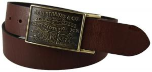 Dây lưng Levi's Men's 38MM Plaque Bridle Belt With Snap Closure