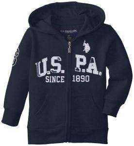 Áo khoác U.S. Polo Assn. Little Boys' Boys Zip-Front Fleece Hoodie Sweatshirt