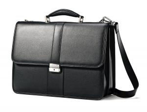 Cặp Samsonite Leather Flapover Briefcase