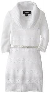 Váy Amy Byer Little Girls' Cowl Neck Belted Dress